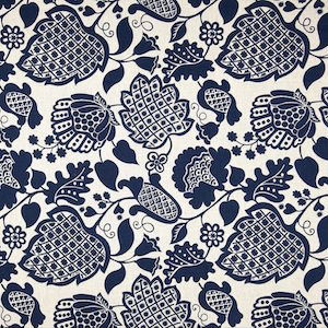Richloom Marseilles French Blue Decorator Fabric, Upholstery, Drapery, Home Accent, TNT,  Savvy Swatch