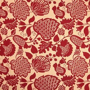 Richloom Marseilles Rouge Decorator Fabric, Upholstery, Drapery, Home Accent, TNT,  Savvy Swatch