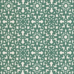 Kasmir Marvelous Scroll Cutout Embroidery Fabric in Teal