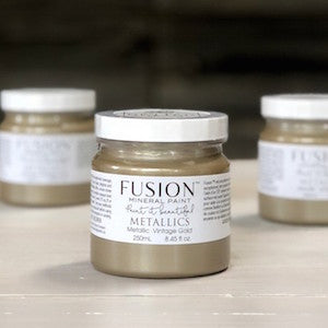 Vintage Gold Metallic - Fusion Mineral Paint, Paint, Fusion Mineral Paint,  Savvy Swatch