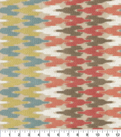 Waverly Upholstery Fabric-Mirage Embroidered Painted Desert - 2.5 yard piece