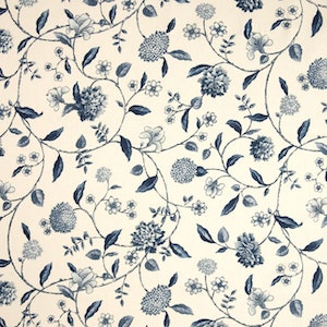 Waverly Nassau Vine Toile Porcelain Decorator Fabric, Upholstery, Drapery, Home Accent, Savvy Swatch,  Savvy Swatch