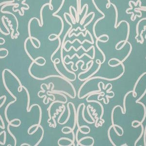 P Kaufmann Pina Colada Island Embroidered Fabric, Drapery, Home Accent, Carolina Decorative Fabrics,  Savvy Swatch