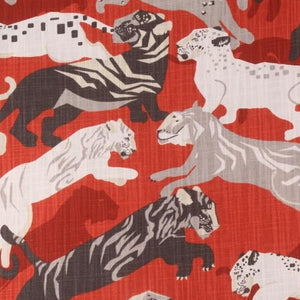 1.2 Yard Piece of Pajita Tiger Persimmon Decorator Fabric