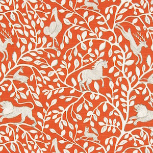 Pantheon Persimmon Decorator Fabric, Upholstery, Drapery, Home Accent, Robert Allen,  Savvy Swatch