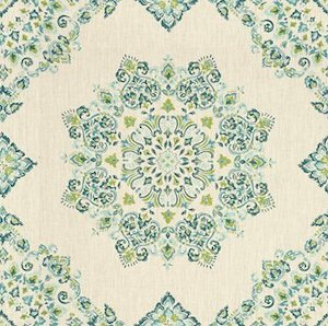Kravet Parvani Linen Fabric in Teal/Lime, Upholstery, Drapery, Home Accent, Savvy Swatch,  Savvy Swatch