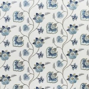 12.8 yards of B3343 Swavelle Mill Creek Phyllis Marine Fabric, Upholstery, Drapery, Home Accent, Savvy Swatch,  Savvy Swatch