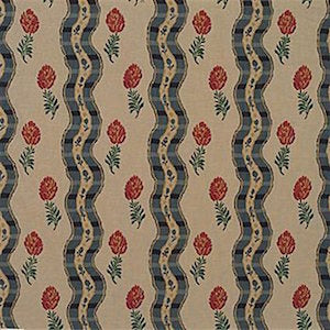 Pine Cone Blue by GP&J Baker Fabric