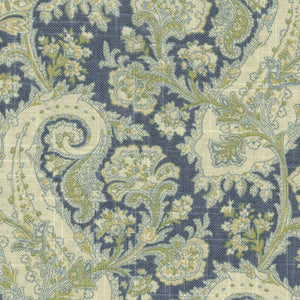 Waverly Porch Paisley Chambray, Upholstery, Drapery, Home Accent, P/K Lifestyles,  Savvy Swatch