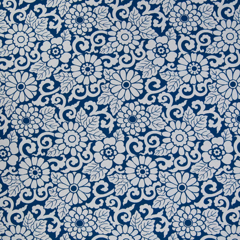 Greenhouse Porcelain Floral 203731 Decorator Fabric, Upholstery, Drapery, Home Accent, Greenhouse,  Savvy Swatch