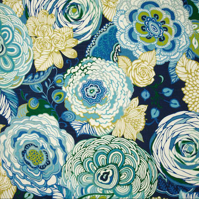Bambina Floral Slub Carribean Decorator Fabric by Richloom, Upholstery, Drapery, Home Accent, Outdoor, Richloom,  Savvy Swatch