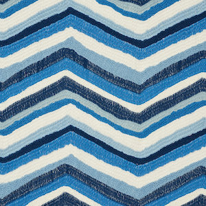 3.4 yards of Shasta Embroidery Blue 72471 by Schumacher Fabric