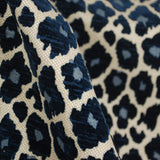 Simba Navy Blue Chenille Panthera Upholstery Fabric by Microfibres Fabrics - .7yd piece, Upholstery, Drapery, Home Accent, Microfibres,  Savvy Swatch