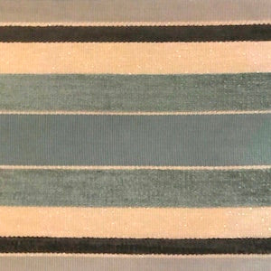 Sparkle Stripe Aqua Velvet Fabric