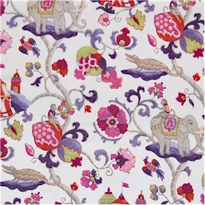 P Kaufmann Sultan's Walk Ruby Decorator Fabric, Upholstery, Drapery, Home Accent, Carolina Decorative Fabrics,  Savvy Swatch