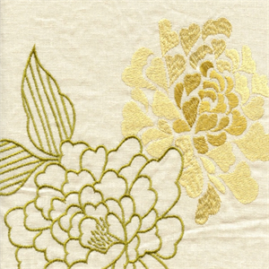 Uma Maize Embroidered Floral Drapery Fabric by Richloom, Upholstery, Drapery, Home Accent, Richloom,  Savvy Swatch