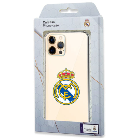 Carcasa IPhone 12 Pro Max Licencia Fútbol Real Madrid Transparente