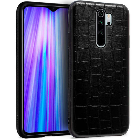 Carcasa Xiaomi Redmi Note 8 Pro Leather Crocodile Negro