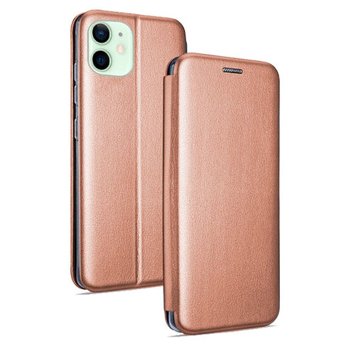 Funda Flip Cover iPhone 12 / 12 Pro Elegance Rose Gold