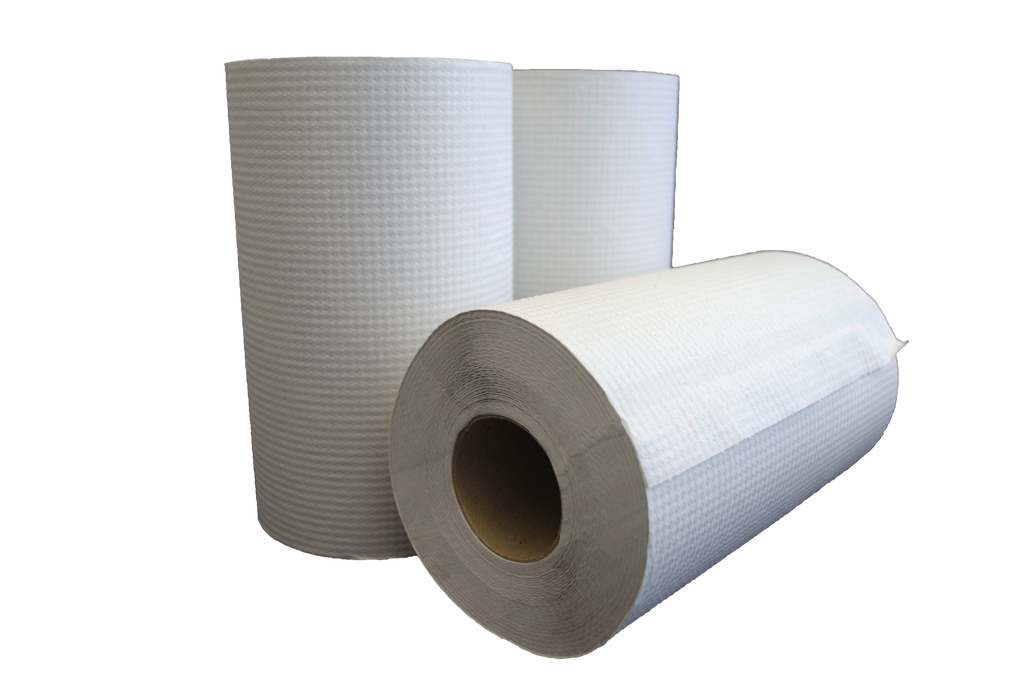 "Paper Towel Rolls 8""x205' in White"