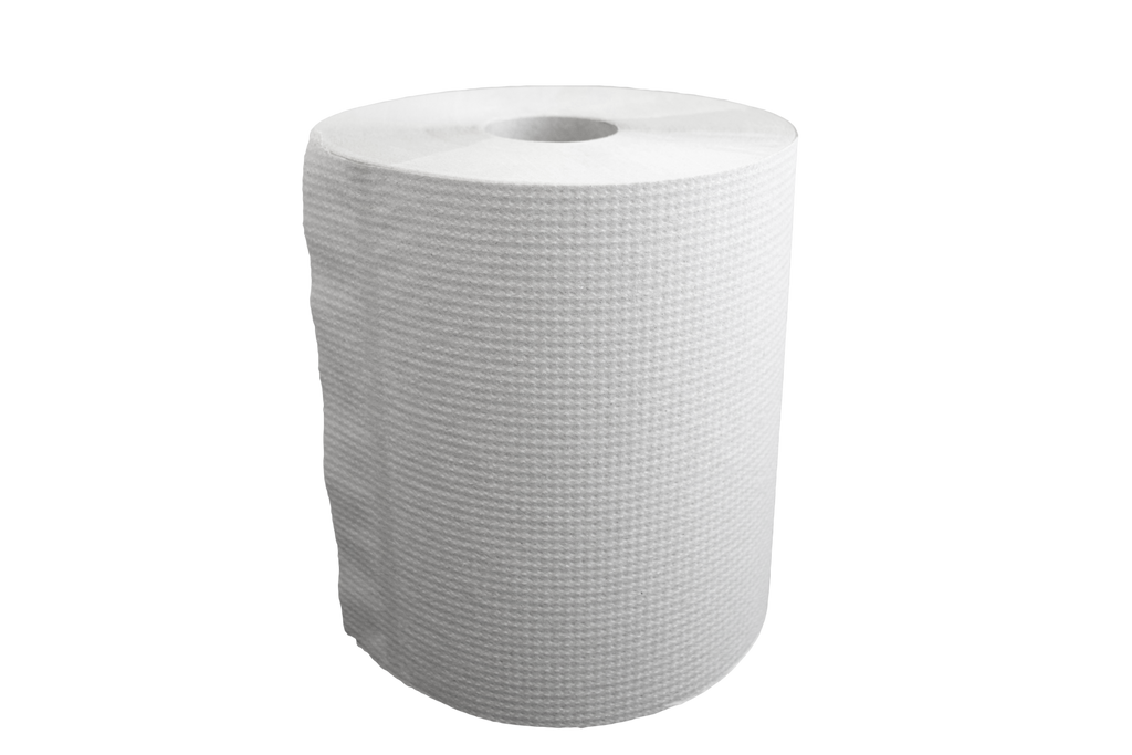 "Paper Towel Rolls 8""x425'x2.1"" Core in White"