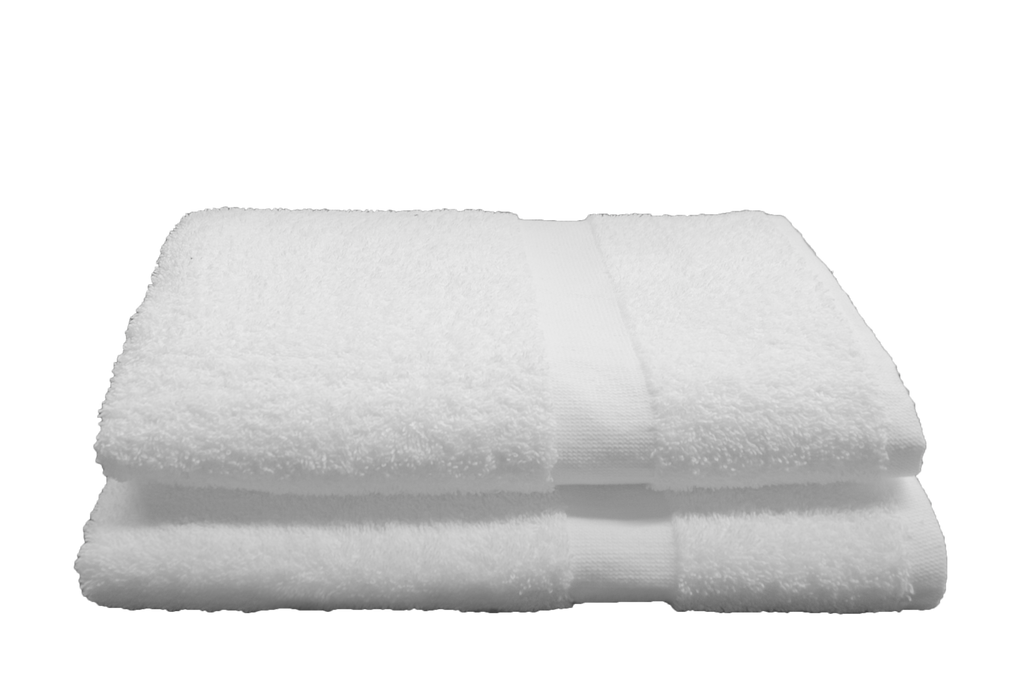 Ambassador Bath Towels 27x54 in White, 14 Lb.