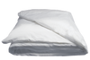 Elegance T-260 Duvet Covers Full/Queen 88x88 in White W/ White Satin Stripe