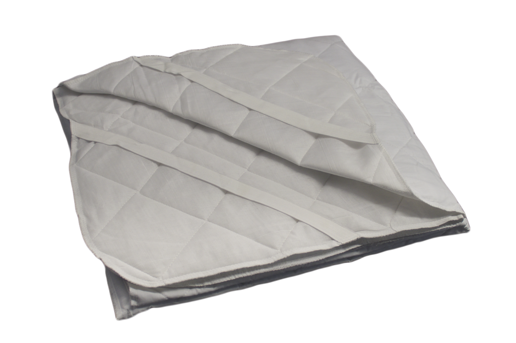 Diamond Collection Mattress Pad with Anchor Bands Twin 39x75 in White