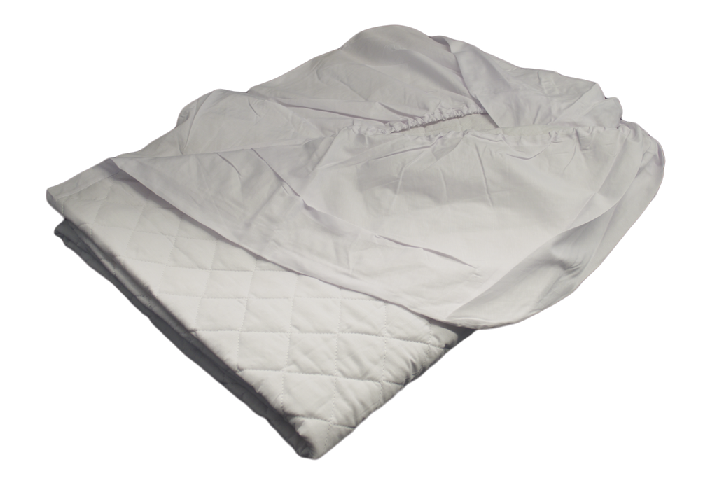 Diamond Collection 16 Oz. Fill Mattress Pad Contoured Twin 39x75 in White