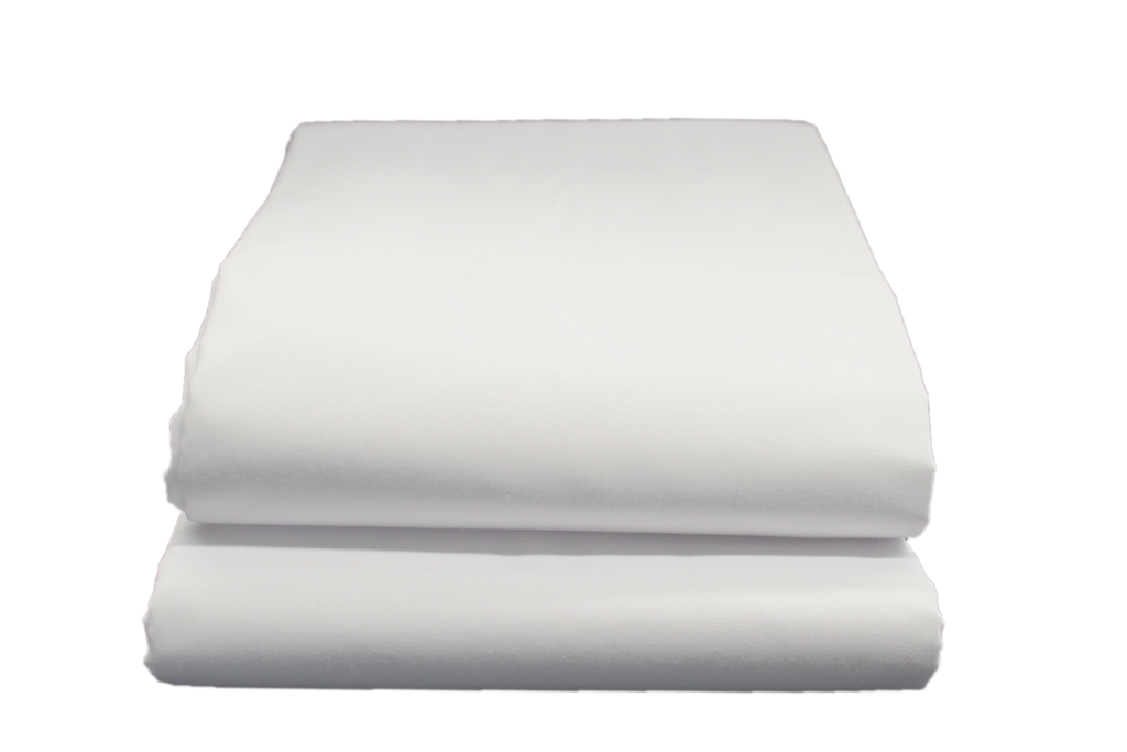Supertex T-180 Flat Sheets Single 66x104 in White