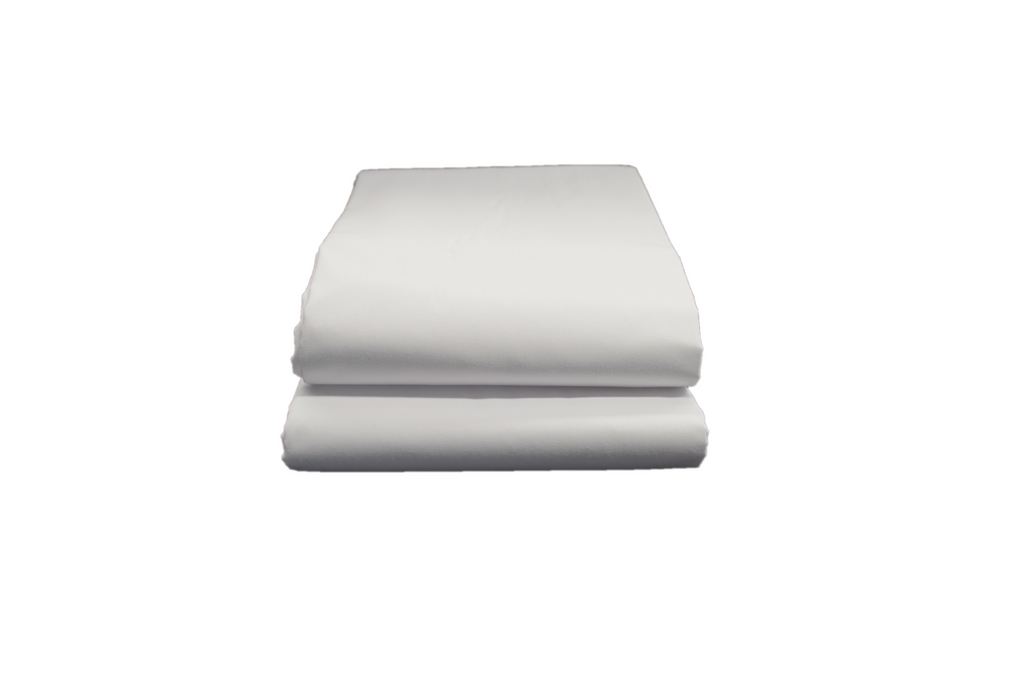 Opulence T-250 Flat Extra-Wide Sheets Queen 92x115 in White