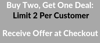 Buy Two, Get One Deal: Limit 2 Per Customer; Receive Offer at Checkout