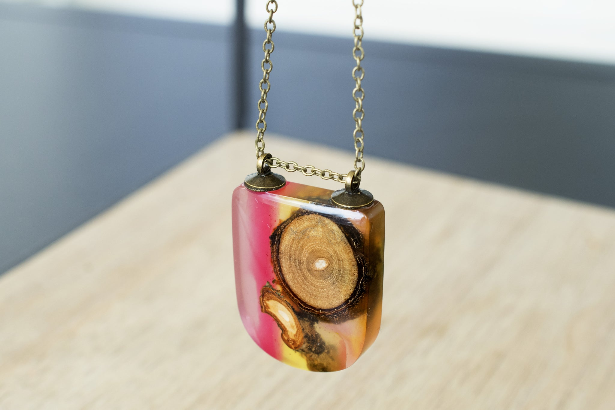 Reclaimed Wood Necklace