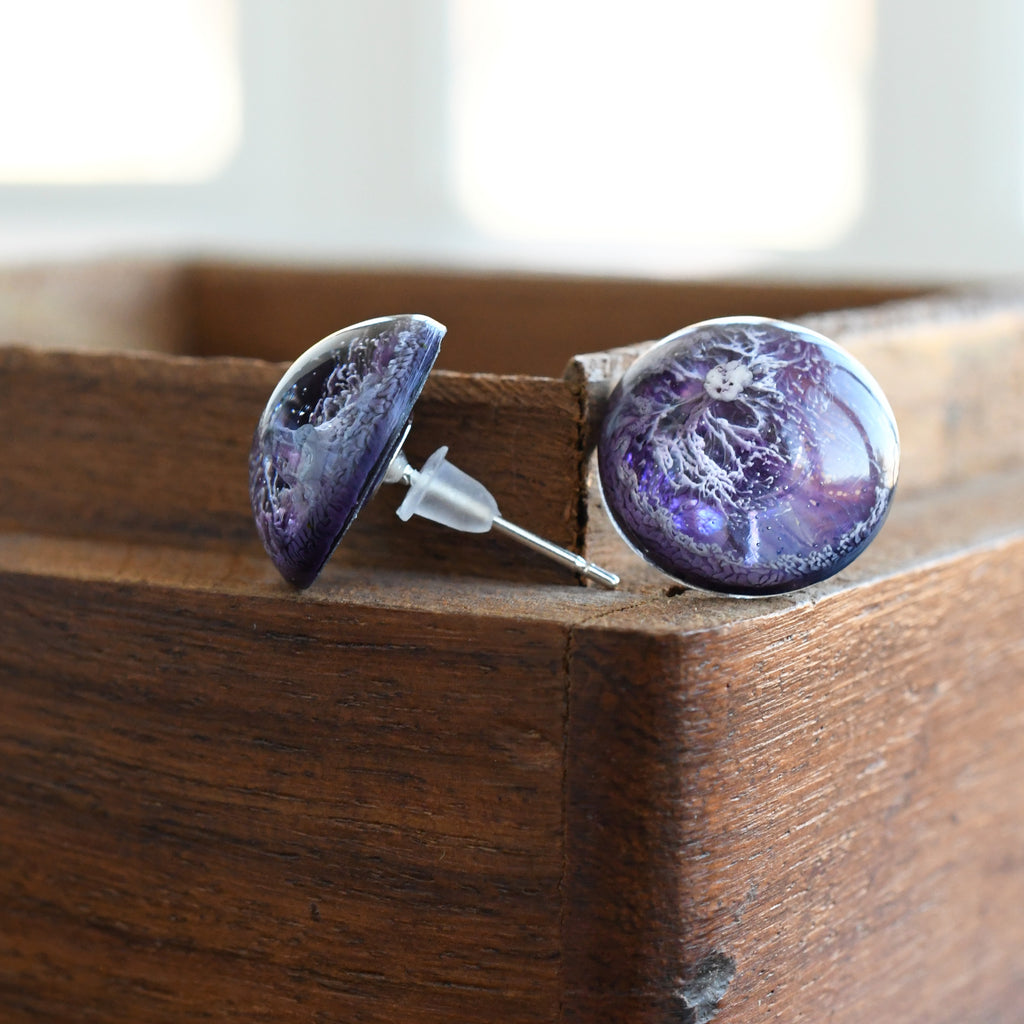 Lilac Stud Earrings