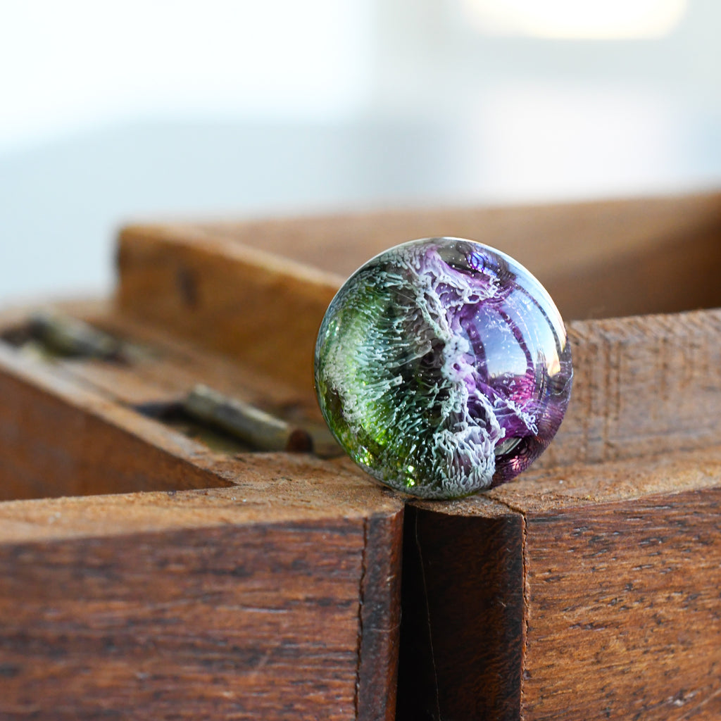 Purple Green Brooch/Pin
