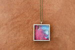 Square resin pendant
