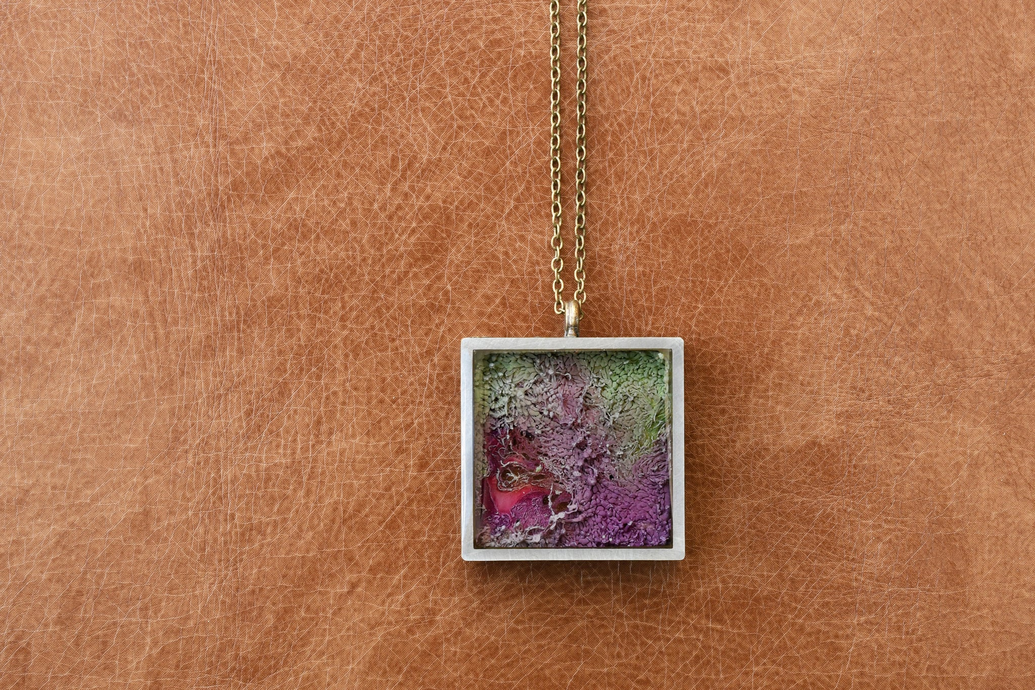 Lilac resin pendant