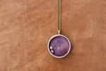 Purple resin pendant