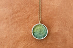Green resin pendant