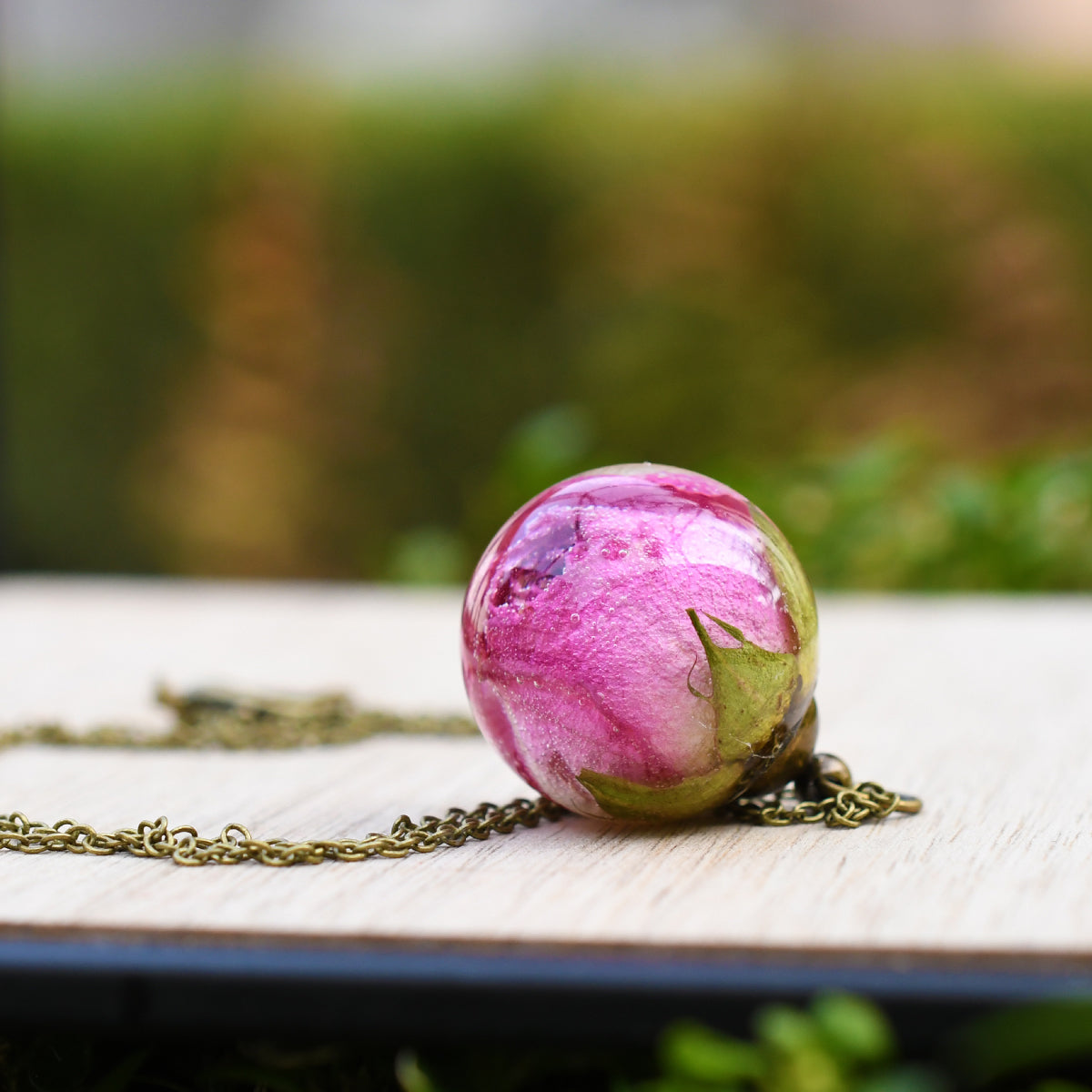 Pink Rosebud Necklace