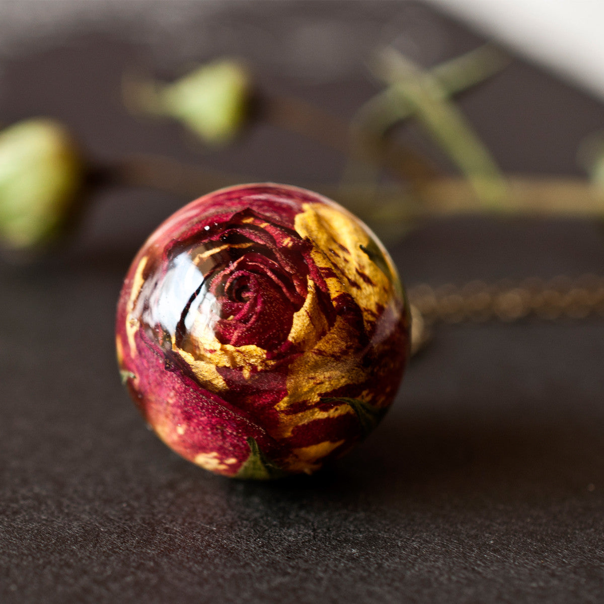 Red and yellow rose pendant resity shop red and yellow rose pendant mozeypictures Images
