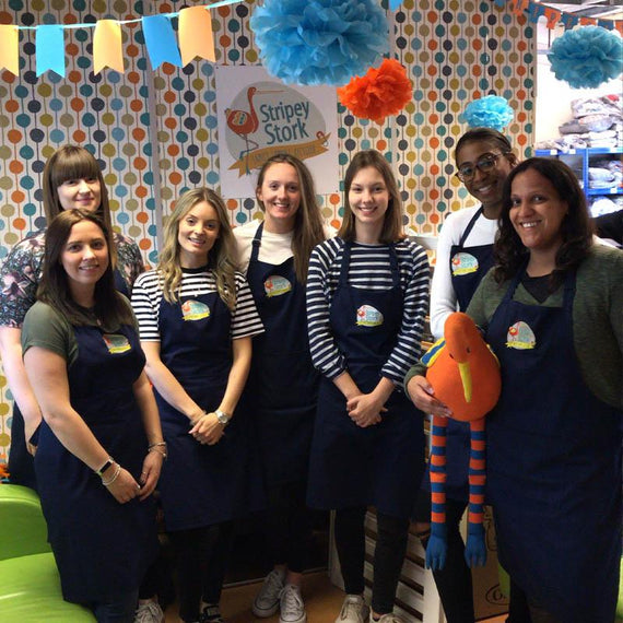 Natural Baby Shower volunteered at Stripey Stork