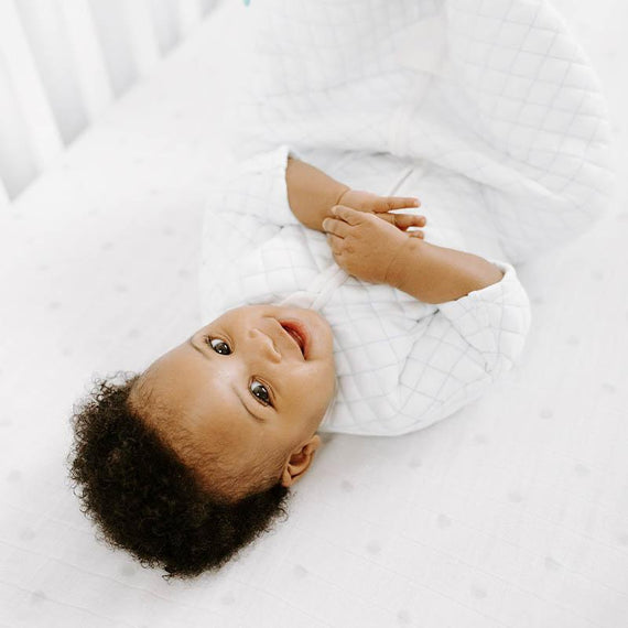 Meet the new aden + anais Snug Fit Sleeping Bag