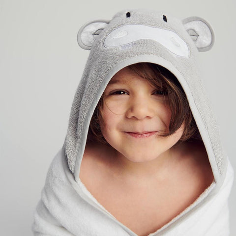 MORI animal hooded towel