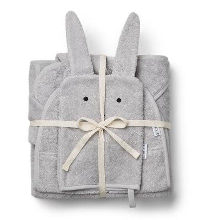 Liewood Cleo Terry Kids Pack in Rabbit Dumbo Grey