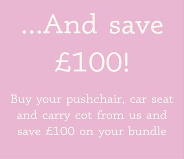 save up to £100 on travel systems