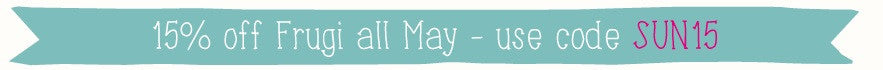 Save 15% on Frugi all May with code SUN15