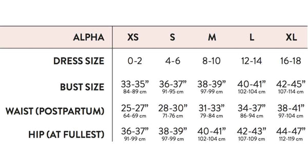 Belly Bandit Sizing Guide