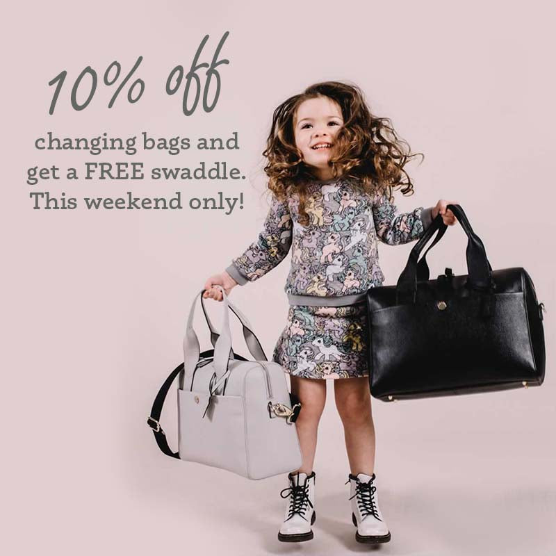 Changing Bag Show Weekend save 10%