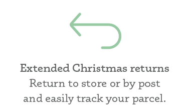 No quibble EXTENDED CHRISTMAS RETURNS policy